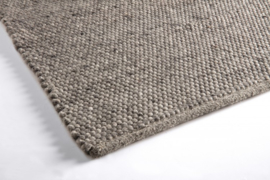 Groot handgewoven 100 % vervilt wol vloerkleed kleed carpet karpet middle grey 240 x 170 cm
