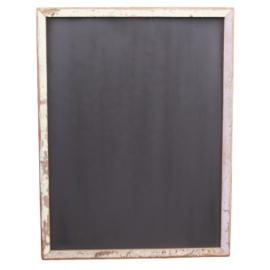 Oud sloophouten krijtbord wandbord schoolbord 132 X 100 cm vintage landelijk industrieel schrijfbord stoer