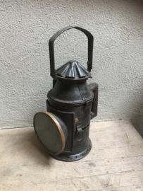Prachtige oude metalen spoorweglamp scheepslamp india omgebouwd tot kandelaar lantaarn