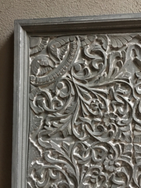 Stoer landelijk oud houten wandpaneel 75 x 75 cm grijs grijze wandpanelen wandornament wanddecoratie hout panelen luiken