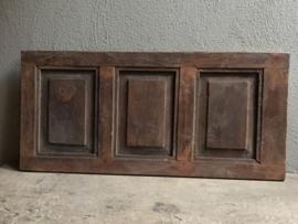 Zeer oude houten Louvre luiken Wandpaneel doorleefd sleets luikje Luik deurtje paneel wandpaneel landelijk stoer vergrijsd