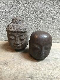 Stenen Buddha budha Boedha Boeddha hoofd hardsteen glad