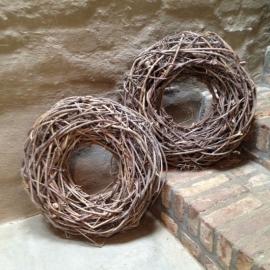 Krans vine gevuld grey vergrijsd 50 cm