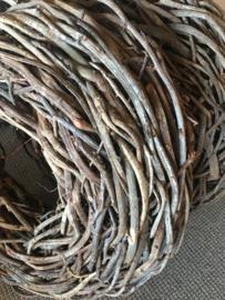 Grote krans 65 cm naturel thick crazy vine rough vergrijsd doorleefd grove takken