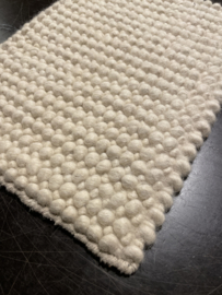 Groot handgewoven 100 % vervilt wol vloerkleed kleed carpet karpet ivory 140 x 200 cm