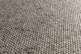 Groot handgewoven 100 % vervilt wol vloerkleed kleed carpet karpet middle grey 200 x 140 cm