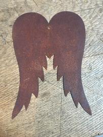 Engelvleugels maat S vleugel vleugeltjes roest metaal