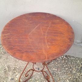 Smeedijzeren bistro tafeltje bistrotafeltje tuintafel landelijk Brocant 60 cm