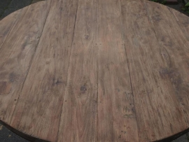 Oud teakhouten tafelblad 280 X 100 cm blad werkblad teakhout