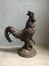 Gietijzeren haan haantje tuinbeeld metaal metalen beeld kip