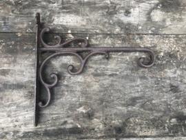 Gietijzeren muurhaak haak hanging basket plantenhaak wandhaak muurhaak Krul zwart
