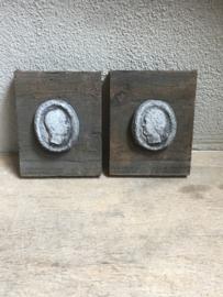 wandpanelen ornamenten vergrijsd hout beton landelijk stoer sober