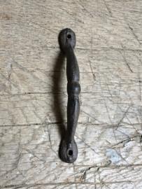 Zware kwaliteit gietijzeren deurknop handgreep zwart greep strak beugel handvat klink deurklink