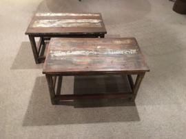 Leuke kleine sloophout sloophouten tafeltje tafel tafeltjes vintage stoer landelijk