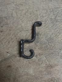 Metalen gietijzeren dubbele kapstokhaak wandhaak haak haakje dubbel landelijk kapstok haak