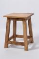 Houten krukje kruk plantentafeltje tafeltje bijzettafeltje zuil zuiltje landelijk hout 33 x 33 x 47 CM