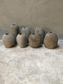 Hele stoere stenen theelichten kei steen theelicht theelichtje theelichtjes landelijk stoer robuust