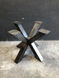 Grijs metalen onderstel tafelonderstel 90 x 90 x H75 cm