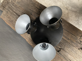 Industriele spot spots Plafoniere zwart metaal industrieel landelijk vintage rond