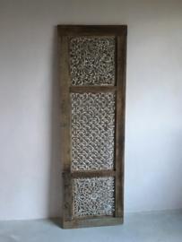 Mega groot houten wandpaneel 185 x 60 cm ornament luik paneel landelijk truckwood railway oud hout robuust
