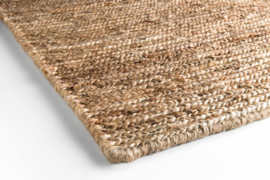 Groot handgewoven 100 % hennep vloerkleed kleed carpet karpet natural 200 x 140 cm