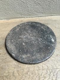 Oude hardstenen schaal bord plateau hardsteen onderzetter landelijk stoer shabby