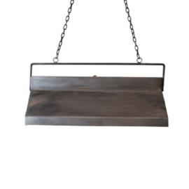 Metalen hanglamp bak industrieel landelijk stoer vintage metaal 62 x 26 x 30 cm grijs