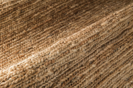 Groot handgewoven 100 % hennep vloerkleed kleed carpet karpet natural 200 x 170 cm