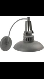 Grijze wandlamp matgrijs industrieel landelijk grijs metaal metalen Stallamp