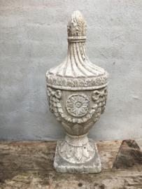 Groot gaaf houten ornament old look kegel pion baluster landelijk brocant