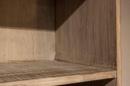 Grote licht houten 2 deurs boekenkast kast landelijk stoer robuust vergrijsd 230 x 100 x 45 cm