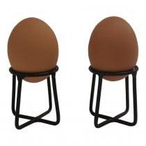 Zwart metalen eierdopjes eierdopje vintage industrieel landelijk metaal metalen eierdop