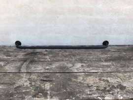 Gietijzeren metalen stang rail muurstang 78 cm zwart mat old look handdoekenrek landelijk industrieel vintage