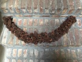 Guirlande slinger sliert touw dennenappels 1 meter koord pineapple landelijk