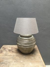 Stenen Kruiklamp lamp landelijk stoer grijs beige
