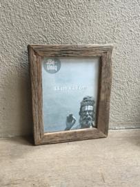Stoere grijze grijs oud oude vergrijsd houten truckwood railway sloophout fotolijstjes s landelijk vergrijsde fotolijst 10 x 15 cm vintage fotolijstje lijst lijstje landelijk