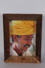 Vergrijsd truckwood houten hout 20 x 25 cm fotolijst fotolijstje fotolijstjes