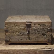 Leuk houten kistje gemaakt van oud doorleefd vergrijsd hout Urban large landelijk stoer industrieel