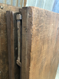 Oude landelijke industriële Sidetable eettafel naturel 150 x 75 cm hout houten Sidetable bureau buro tuintafel klaptafel werkbank werktafel oud vintage stoer