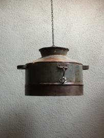 Industriele landelijke metalen lampekap ketel voor hanglamp incl ketting industrieel landelijk