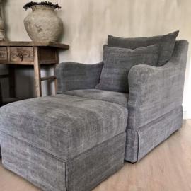 Prachtige stoffen fauteuil Luzia stoel bijzet landelijk stoer