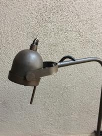 Roestbruin metalen leeslamp halogeen led  inclusief dimmer schakelaar industriele leeslampje tafellamp burolamp bureaulamp bedlampje landelijk stoer industrieel chique