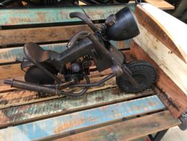 Stoere metalen lamp motor meter industrieel stoer vintage