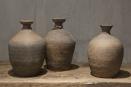 Prachtige oude stenen pot kruik sober stoer landelijk vaas grijs
