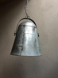 Industriële hanglamp grijs industrieel landelijk grijze metalen fabriekslamp