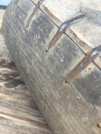 Oude vergrijsd houten trog bak schaal mangelbak landelijke stijl landelijk hout vergrijsd oud mangelbak