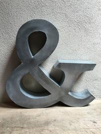 Zinken letter & groot zink landelijk stoer industrieel metaal vintage metaal metalen decoratie landelijk