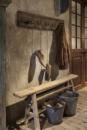 Railway houten kapstok oud hout stoer landelijk plank grof nerf 100 cm 1 meter wandhaken wandkapstok industrieel