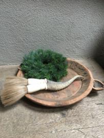 Dennenkrans dennentakken krans groen kerst imitatie kunst landelijk brocant 35 cm