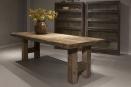 Stoere oud houten tafel 260 X 100 X H77 cm eettafel boerentafel stoer landelijk industrieel